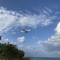 豊崎海浜公園 飛行機が間近に見える