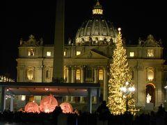 夜のサンタンジェロ城とサンピエトロ大聖堂~イタリアで年越し⑫