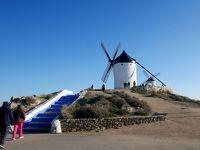 2019.12今年の年越しもスペインアンダルシア旅行21-A-4からCM-42へ,スマホ立てを買いにConsuegraの風車による