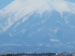 津軽17 〔岩木山〕冠雪の津軽富士  名峰の気高さ! ☆朝食・大鰐→黒石(バス車窓風景)