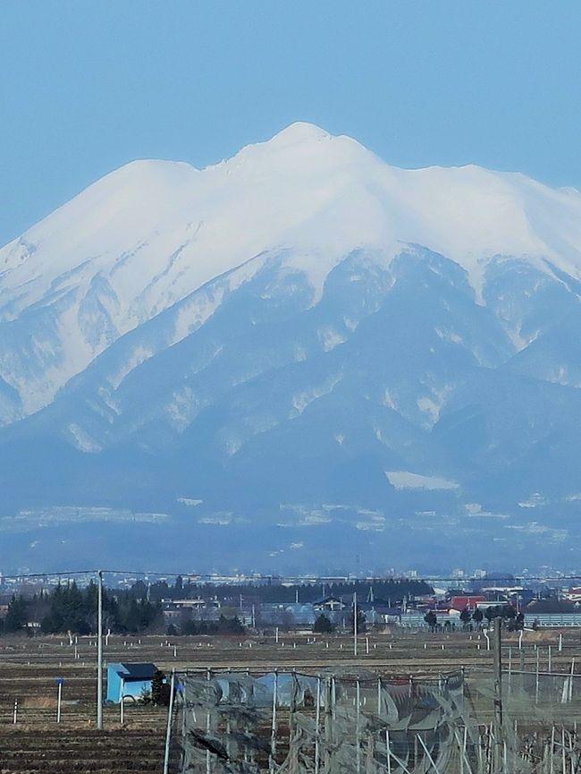 岩木山(いわきさん)は青森県弘前市および西津軽郡鰺ヶ沢町に位置する火山である。標高は1,625 mで、青森県の最高峰である。日本百名山および新日本百名山に選定されている。その山容から津軽富士とも呼ばれるほか、「お岩木やま」あるいは「お岩木様」とも呼ばれる。 <br /><br />岩木山は円錐形の成層火山で、山頂は三つの峰にわかれており、弘前側からみた右が巌鬼山(岩鬼山)、左が鳥海山とされるが、これらは火山活動により生じた外輪山の一部である。三峰の中心にある岩木山は、鐘状型の中央火口丘であり、山頂に一等三角点が設置されている。なお、岩木山の地質は安山岩からなる。 比較的新しい火山のため、高山帯と広葉樹林帯の間に針葉樹林帯が見られず、ダケカンバがそのまま矮小化していく特異な光景が見られる。 <br />富士山と同様に、古くから山岳信仰の対象とされ、山頂には岩木山神社の奥宮が置かれた。山域は1975年に、津軽国定公園に指定され、南麓に広がる2,587 haの高原は青森県の岩木高原県立自然公園に指定されている。<br />(フリー百科事典『ウィキペディア(Wikipedia)』 より引用<br /><br />岩木山 については・・<br />http://www.iwakisan.com/<br />https://www.yamakei-online.com/yamanavi/yama.php?yama_id=174<br /><br />津軽とは、青森県西半部の呼称。かつての陸奥国の一部で,戦国時代以後津軽氏が領有。江戸時代には弘前,黒石の2藩に分かれた。<br />https://kotobank.jp/word/%E6%B4%A5%E8%BB%BD-99067 より引用<br /><br />みちのくの絶景と青森の名湯・伝統芸能 酸ヶ湯温泉と五能線・鶴の舞橋 3日間   クラブツーリズム <br />3日目 3月19日(木) <br />大鰐温泉--【移動:約50分】-黒石(こみせ通りを散策)【滞在:約40分】--【移動:約20分】--【移動:約30分】--(昼:弁当) --酸ヶ湯温泉(東北を代表する秘湯)【滞在:約50分】--津軽伝承工芸館【滞在:約40分】--【移動:約60分】-青森空港(15:15発)- -日本航空146便--羽田空港(16:40着) <br />