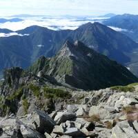 奥穂高岳登山合宿・その3.本邦第3位の高峰「奥穂高岳」に登頂!