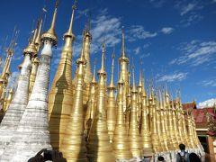 ミャンマー8日間の旅(5)インレー湖遊覧、インディン遺跡、水上集落