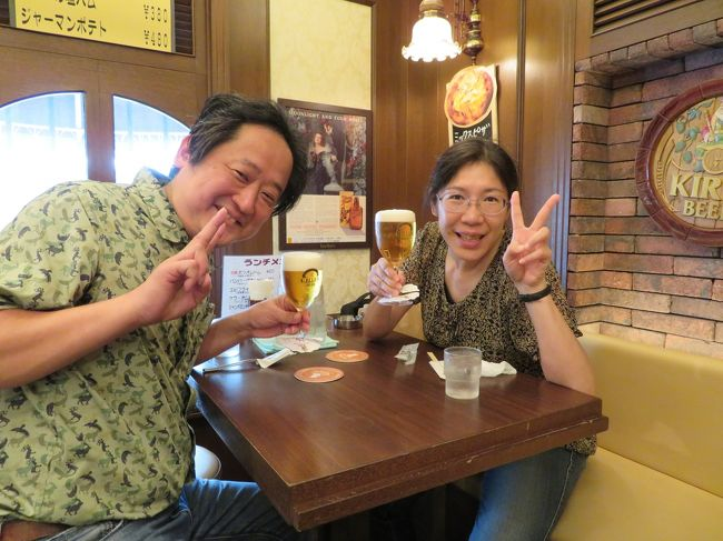 2019年9月9日(月)史上最強の移動遊園地 DCT WONDERLAND2019 大阪のコンサートがあるので、伊丹空港からレンタカーをして、英賀保に行った後、姫路駅付近で大好きなHちんと会って、へろへろになるまで美味しいお酒を飲んだ翌日、幼馴染のHさんと味乃家さんでお好み焼きを食べ、コンサートで美和ちゃんに酔いしれた後、夜はYさんと串揚げを食べ、大阪で一泊し、時間の許す限り街並みを散策しますぅ☆<br /><br />大阪にいるのに私達はドイツ料理屋さんの看板を見つけてしまい・・・<br />ランチにドイツ料理を食べてしまったのです。<br /><br />ガラスショップ店:CuteGlass Shop and Gallery