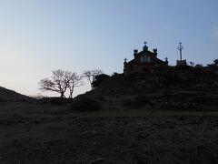 夕闇迫る  旧野首教会