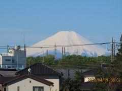 素晴らしい真っ白な富士山が見られました