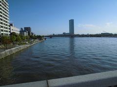 朝の信濃川沿いを歩きました