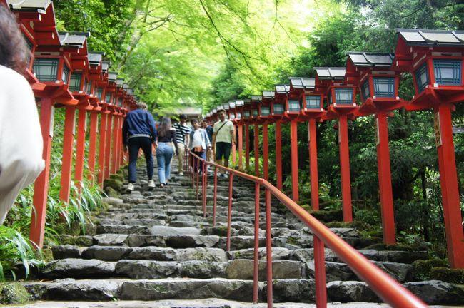 浮世絵を観に京都へ。<br />ついでに貴船神社へも足を伸ばしました。<br />ジメジメの季節も貴船神社付近は涼しくて気持ちよかったです。<br />涼を求めて、初夏の奥京都へ。