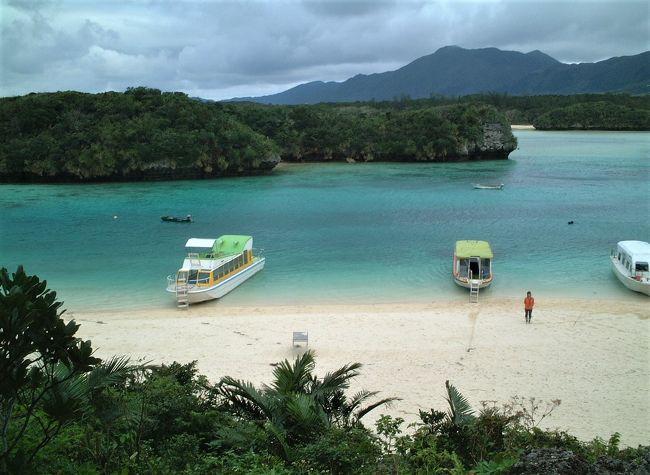 冒頭の写真は、石垣島の観光スポット、川平湾です。<br /><br />沖縄の宮古島・八重山9島を効率的に巡るツアーに参加して温かい冬の沖縄を旅しました。<br /><br /><br />訪れた9島<br />宮古島:沖縄県宮古島市に属する宮古列島の島、近隣には、池間島、大神島、伊良部島、下地島、来間島がある。<br />池間島:宮古島の北西1.5kmに位置し、池間大橋を渡っていける島<br />来間島:宮古島の南西約1.5 kmの太平洋に浮かぶ来間大橋を渡っていける島<br />伊良部島:宮古島の北西約5kmに位置する隆起サンゴの島で、宮古島との間には、2015年1月31日に伊良部大橋(本橋部分3,540m)が開通した<br />下地島:狭い水路を隔てて東側の伊良部島と隣接し、6本の橋で結ばれている。<br />石垣島:沖縄県石垣市に属する八重山列島の島で、 沖縄県内では沖縄本島・西表島に次いで3番目<br />西表島:沖縄県八重山郡竹富町に属する八重山列島の島<br />竹富島:沖縄県の八重山列島にある島<br />由布島:西表島の東約0.5kmに位置する八重山諸島の島<br /><br /><br />石垣島のホテル:ANAインターコンチネンタル 石垣リゾート(あやふや?)<br />宮古島のホテル:ホテルブリーズベイマリーナ(南西楽園宮古島リゾート)<br /><br />由布島は、周囲2.15km、海抜1.5mの小さな島で、島の広さは約4万坪、島全体が砂によってできています。遠浅で、満潮でも1mほどしかありませんので、水牛車で海を渡るのが名物。水牛車に乗り込むと、水牛のことや由布島の紹介や、三線を奏で歌を歌いながら、のんびりと海を渡ります。<br />お天気が良ければ、マンタの浜からは、約2km沖合にある小浜島を始め、嘉弥真島(かやまじま)、石垣島、黒島、新城島(あらぐすくじま)などの島々も見ることができます。島全体が亜熱帯植物園となっており、色とりどりの植物を一年中楽しむこともできます。<br /><br />竹富島の魅力は、赤瓦の屋根と水牛車で有名な南国ムードたっぷりの沖縄を代表する人気の島。人が歩くスピードよりも遅い水牛車に乗って、島の見どころを巡ります。カイジ浜(皆治浜)は「星砂の浜」とも言われており、砂浜で星砂を見つけると幸せを招くとも言われています。<br /><br />川平湾:石垣島の北西部に位置する湾で東シナ海に面しており、カビラブルーとの愛称をもつ素晴らしい海の色が大好評の景勝地です。南北に2.5km、湾内には九つの隆起珊瑚礁島があります。<br />太陽光の強さや角度、潮の満ち引きで色が変わり、一瞬とて同じ色にはならないと言われており、あの画家の岡本太郎氏が「使う絵の具がない」とおっしゃったほど。湾内の潮の流れが早く遊泳禁止エリアですが、グラスボートで湾内の珊瑚礁の景観をご覧頂くことが出来ます。<br />様々な条件から黒真珠の養殖に適しており、世界で初めて養殖に成功したのもこの川平湾です。<br />何度も足を運び、一瞬一瞬で変化していくカビラブルーをいつまでも眺めていたい、そんな気持ちになる場所です。<br /><br />