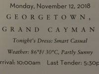10泊Veendam★2★Mon, Nov 12 Grand Cayman, Cayman Isl