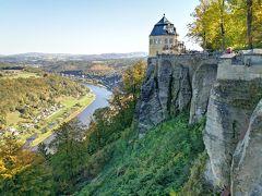 快晴なのでケーニヒシュタインの町から要塞へお手軽ハイキング