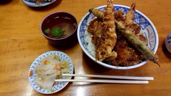 コロナに負けないように、また栄養を取りに今回は、天丼を食べに行きました。大正5年創業の神田でも老舗天ぷら屋さんです。実は、入り口の暖簾がびりびりです。入りにくいのですが、中は昔ながらのお店です。今回は、上天丼を注文@1,100円でした。大盛り100円で、ご飯倍増で、天ぷらが一つ追加されます。美味しくいただいて元気をもらってきました。