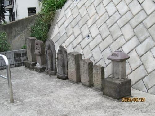 柏市の宿連寺・普門院・共同墓地・石仏