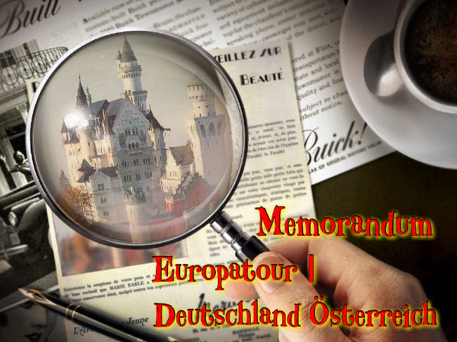 備忘録 第四弾ー第七弾は初海外の<br />ドイツ・オーストリア・スイス・パリ<br />(リヒテンシュタイン)の欧州周遊編。<br /><br />デジタルデータは無い為<br />スキャンしたり、写真をスマホで撮影<br />したりしながら。。<br />出入りするドイツ・オーストリアで一つ<br />他は各国別に分けて作る事にしました。<br /><br />人物的には約30年の月日が物語る物は<br />ありますが、観光名所は変わらず<br />そこにある。。<br />これからも、そうであり続けて欲しい<br />ですね。。<br /><br />初海外は、シンガポールからよ!^^<br />と、皆に贅沢だー!<br />と言われた欧州周遊の旅。<br /><br />日本のホテル朝食と違い<br />パンとチーズとハムだけの朝食に<br />驚いたのを覚えています。<br /><br /><br />それではプロローグ 第四弾は<br />第一日目から四日目までの<br />ドイツ・オーストリア編から。。