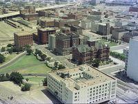 Kennedy Memorial, Dallas, TX, June 1980.