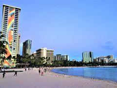 3世代で楽しむハワイ~♪(1日目:ANA SUITE LOUNGE~ワイラナ コーヒー ハウス~ワイキキトロリー~カハナモク ビーチ)
