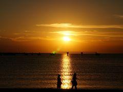 東京湾フェリーで行く夕暮れの館山