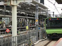 渋谷駅ホーム並列化工事を見に行ってきました。