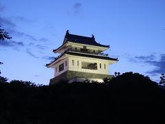 夕闇に浮かぶ竹崎城址展望台訪問後太良町特産竹崎蟹1匹入ったかにちゃんぽんを頂く
