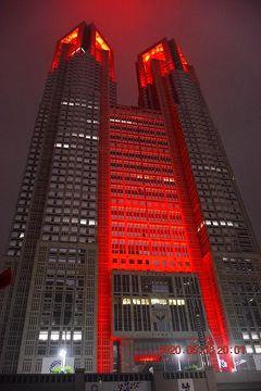 2020 エヴァっぽい? 東京アラート発令後最初の週末ライトアップ