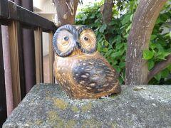 横浜で見掛けたフクロウの置物