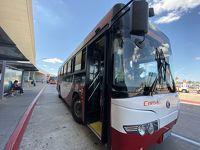モンテビデオ空港から市内へ