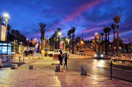 16.エルサレムの神殿の丘、そして夕刻の街並み:サウジ、クルディスタン、イスラエル、ヨルダンの旅
