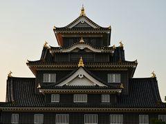 夕刻の岡山城