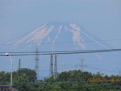 6月15日ふじみ野市より見られた富士山