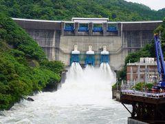 20200615-5 宇治 増水中の宇治川は…天ヶ瀬ダムの放流でしたのね。ちょっと見に行ってみますか