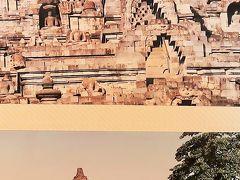 ジャワ島/1994年-1 ボロブドゥール寺院遺跡群 大規模な世界遺産 ☆JALバリ島⇒仏教の聖地へ先ず
