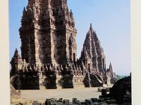 ジャワ島/1994年-2 プランバナン寺院遺跡群 荘厳な修復途上で ☆夜明け前-日の出!チャーター車観光で