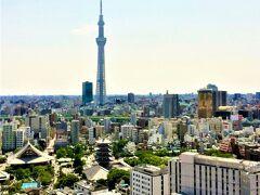 日頃の感謝を込めて主人の誕生日プレゼントで東京へ。2日目は浅草ビューホテル・スカイビュッフェ武蔵の朝食から…。