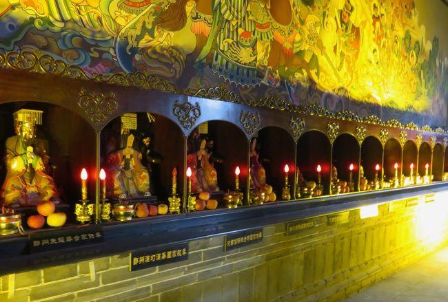 2019秋、中国旅行記25(17/34):11月19日(5):洛陽(5):関林廟(2):狛犬、関羽像、四天王像、寄進の関羽像