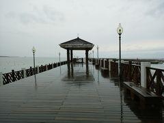 ツアーで台湾北部を周遊5. 水辺は癒される~雨の漁人碼頭からの景観~