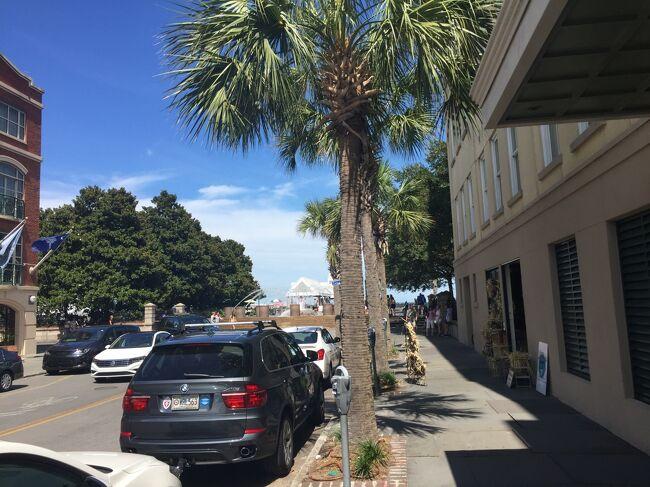 5つ星ホテルのザ・ヴェンデューがある、クイーンストリートの港側の数ブロックはチャールストンの中でも気品ある雰囲気。ウォーターフロントパークの噴水までの通りを散策しました。