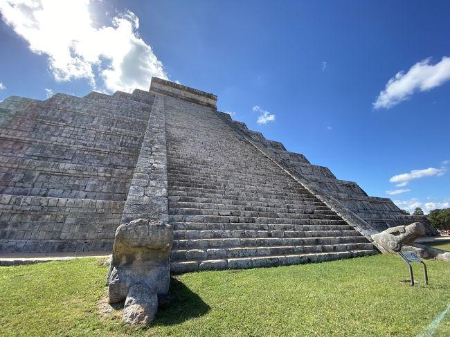 10年振りのチチェン・イッツア。<br />前回は現地ツアーだったので、自由時間が少なく遺跡をゆっくりは見られませんでした。<br />今回はメキシコの高速バスADOでたっぷり満喫してきました。