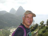 セントルシア サルファースプリングスとピトン山(Sulphur Springs & Pitons, St. Lucia)