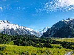 ニュージーランド 南島 ルピナス街道 ⑧ (マウントクック、ホッカーバレートラックと氷河展望地)