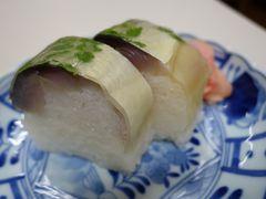 20200801-3 京都 桝形商店街の満寿形屋、鯖寿司のうどんセット