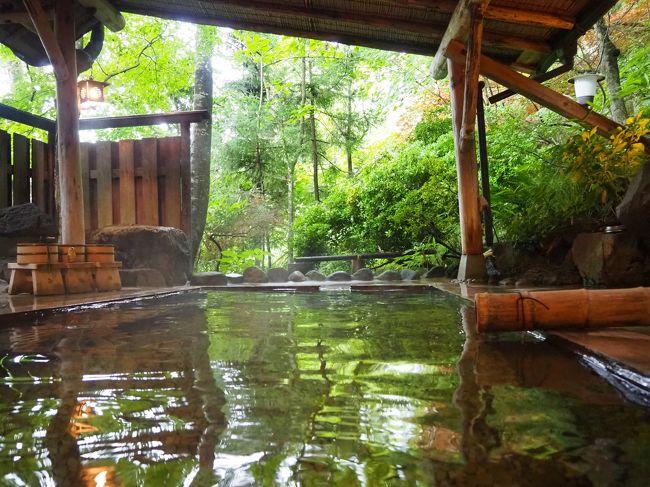 鳴子温泉の旅2泊目は、ちょっときれいめのお宿に泊まりました。<br />1泊目のところで、もし虫にヤラレた場合の保険として…。<br />(実際は大丈夫でしたが)<br /><br />こちらのお宿、旅館の中で8つの湯めぐりができる宿で、コロナであまり出歩くべきでないかなーなどと思っていたこの時にうってつけでした。<br />ご飯も美味しかったし、どなたにもおすすめできる宿だと思います。<br />Go To キャンペーンの対象でもありますしね♪<br />