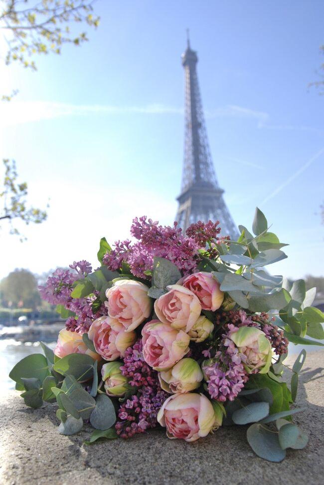 Paris * ブーケを持ってエッフェル塔へ