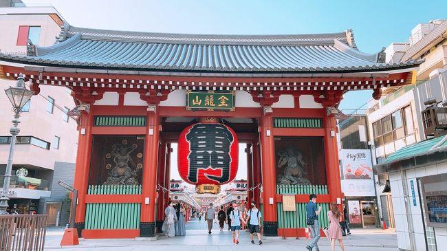 2020年の夏休み。<br />本当なら、三重県に行ってお伊勢参りと<br />鳥羽でマナティにご挨拶の予定でした。<br />隙あればバンコクにも行こうとも思っていた。<br />でも、こんな状況な上に<br />東京都民はGO TO トラベルから除外…。<br /><br />でも、夏休みなのに家にいるのも何だかな。<br />自分で出来る感染予防をしつつ都内観光しよう!と。<br />外国人観光客もいない浅草はどうかなと選んでみました。<br /><br />当初予約していたホテルが自主休業になり<br />慌ててホテルを変えたりしましたが、<br />それなりに楽しい夏休みを過ごせました。<br /><br />ホテル:リッチモンドホテルプレミア浅草