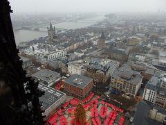 2017年ドイツ&ちょこっとオランダのクリスマスマーケット巡りの旅 【36】 ケルン大聖堂の塔からの眺め