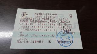 「四国満喫きっぷスペシャル」で行く四国満喫の旅2020・08(パート1・1日目編)