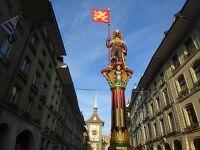 絶景が広がるアルプスの山歩きと鉄道の旅:スイス、リヒテンシュタイン旅行【6】(2019年秋 3日目① 愉快な噴水たち)