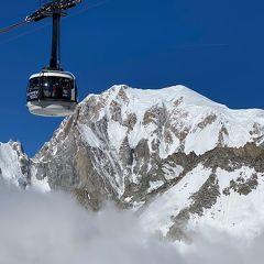 (5日目)モンブランを眺めてスイス・ツェルマットへ