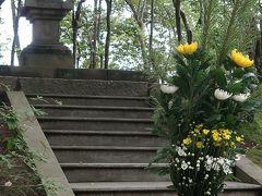 奈良県25 西ノ京f 鑑真和上の墓所(開山御廟) 参拝 ☆苔庭・池の自然に囲まれた聖地