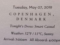 26泊Zuiderdam★5★Tuesday, May 7 Copenhagen, Denmark