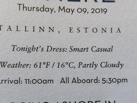 26泊Zuiderdam★6★Thursday, May 9 Tallinn, Estonia